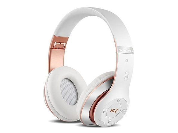 S6 Wireless Bluetooth Headphones (White/Rose Gold)