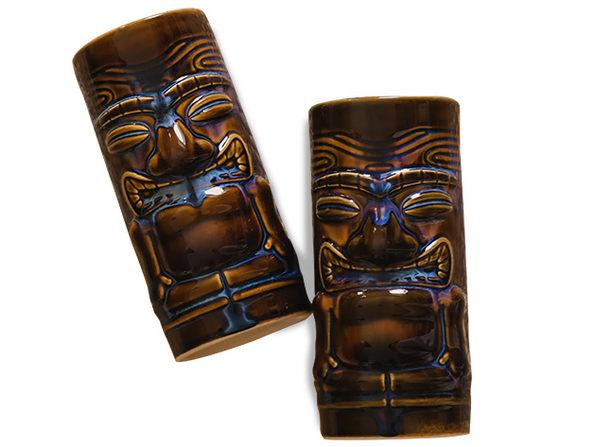Tuxton Home Kona Ocean Glow Tiki Mugs (Set of 6)