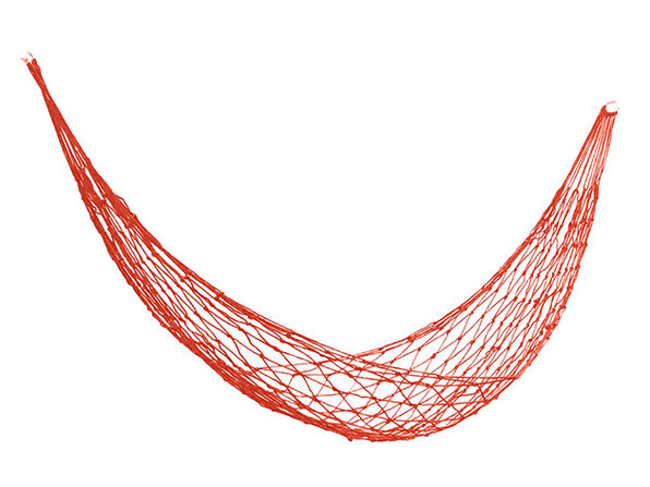 Nylon Mesh Hammock Red - Product Image