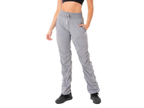 Kyodan Womens Casual Drawstring Waist Jogger Workout Cargo Pants with Pockets - Small