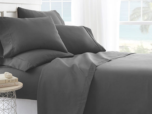 iEnjoy Home Grey 6-Piece Sheet Set (King)