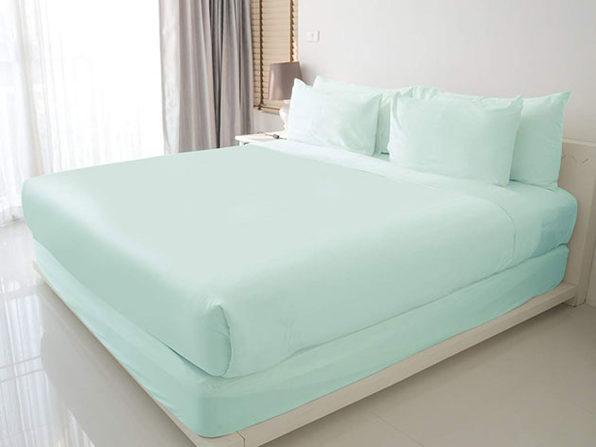 100% Egyptian Cotton Sheet Set (Aqua/Queen)