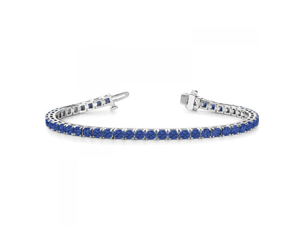 Sterling Silver Sapphire Tennis Bracelet - Sapphire White - Product Image