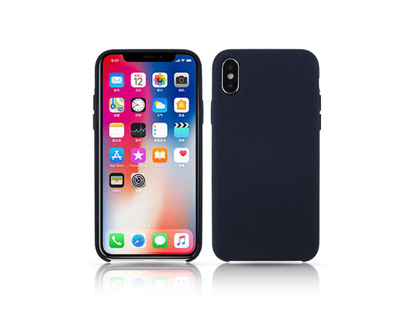 Silicone Case for iPhone X Navy - Product Image