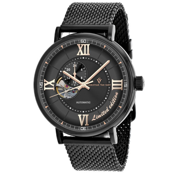 Christian Van Sant Men's Somptueuse LTD Black Dial Watch - CV1144