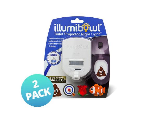 illumiBowl Toilet Projector Night Light: 2-Pack