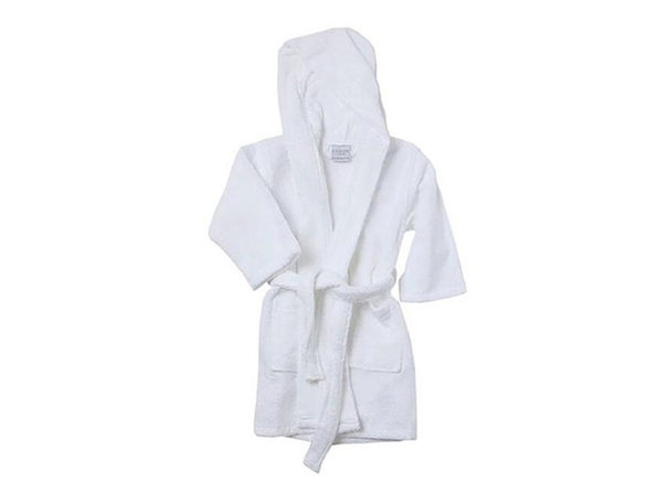 Alvare Luxury Kids Robe (White/Small-Medium)