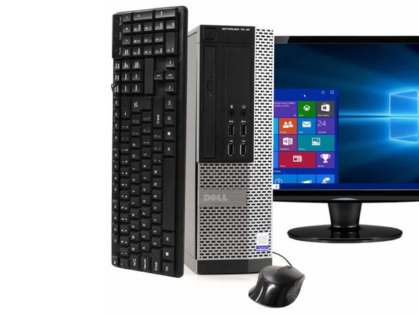 "Dell OptiPlex 7020 Desktop PC, 3.20GHz Intel i5 Quad Core Gen 4, 16GB RAM, 240GB SSD, Windows 10 Professional 64 bit, 22"" Widescreen Screen (Renewed)"