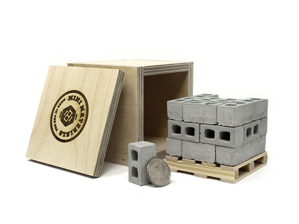 Mini Cinder Blocks With Pallet & Shipping Crate