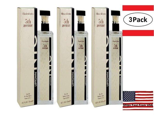 3 Pack 5th Avenue Uptown NYC by Elizabeth Arden Eau De Parfum Spray 4.2 oz for Women - Product Image