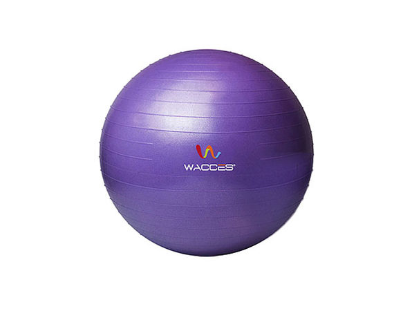 Wacces Anti-Burst  Yoga Ball with Pump - Purple, 55 cm - Product Image