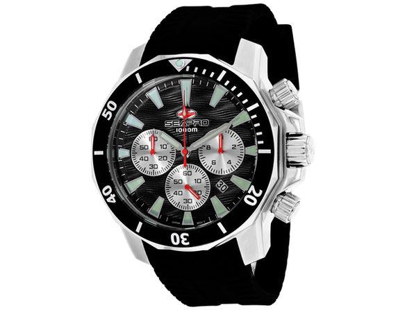 Seapro Men's Scuba Dragon Diver Limited Edition 1000 Meters Black Dial Watch - SP8341R