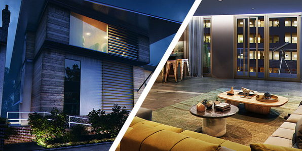 3D Max + Vray: Interior & Exterior Night Rendering - Product Image