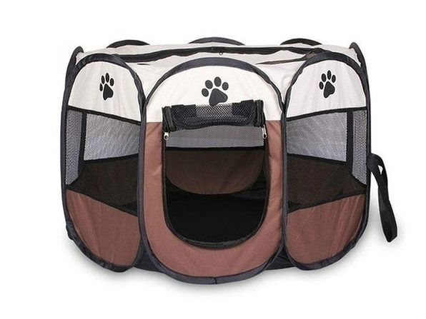 Portable Pet Tent (Coffee Large) - Product Image