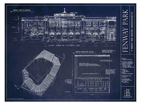 "Unframed Print 18""x24"": Fenway Park, Boston Red Sox"