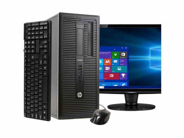 "HP ProDesk 600G1 Tower PC, 3.2GHz Intel i5 Quad Core Gen 4, 8GB RAM, 2TB SATA HD, Windows 10 Professional 64 bit, 22"" Screen (Renewed)"