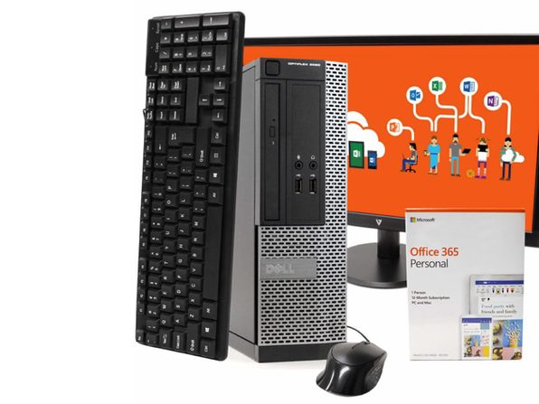 "Dell OptiPlex 3020 Desktop PC, Intel i5-4570, 8GB RAM 512GB SSD, Windows 10 Pro, Microsoft Office 365 Personal, 22"" LCD, New 16GB Flash Drive, Keyboard, Mouse, WiFi, Bluetooth (Renewed)"