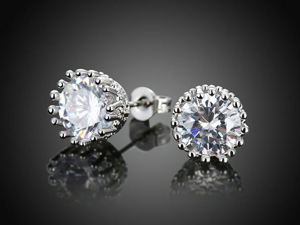 Royal Crown Stud Earrings Ft. Swarovski Crystals