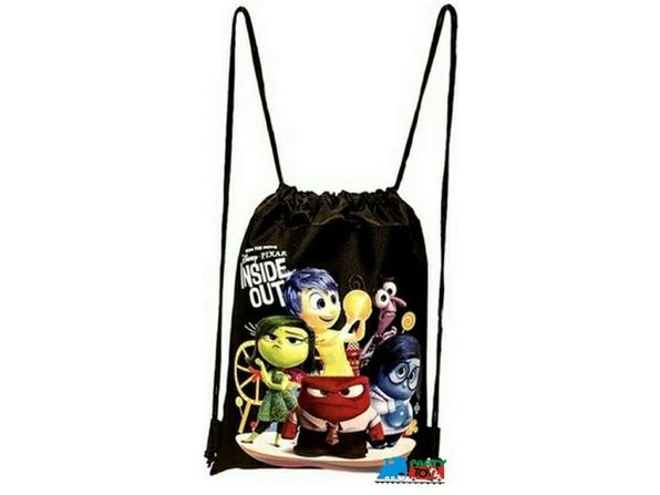 "Drawstring Bag - Inside Out - Black - 13"" X 11"" - Product Image"