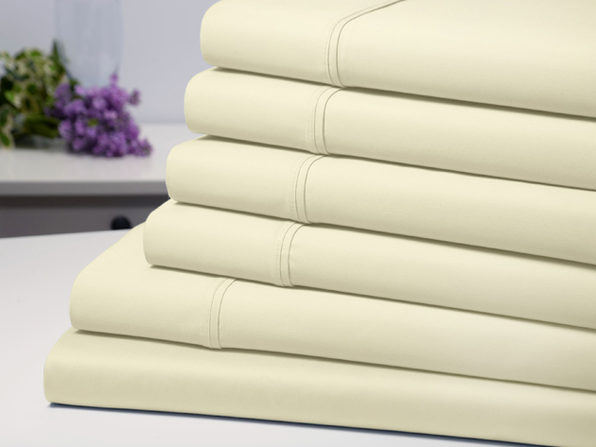 Bamboo Comfort 4 Piece Luxury Sheet Set - Ivory (Twin) - Product Image