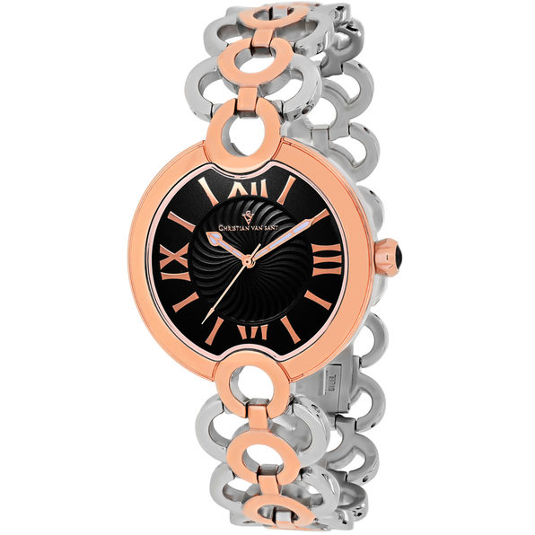 Christian Van Sant Women's Twirl Black Dial Watch - CV2815 - Product Image