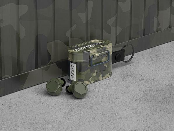 Cargo BT 5.0 True Wireless Earbuds (Camo Green)