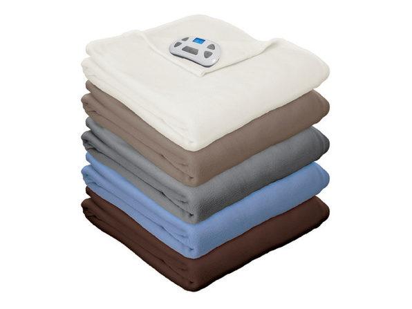Pure Warmth Micro Fleece Electric Heated Warming Blanket Digital - Taupe