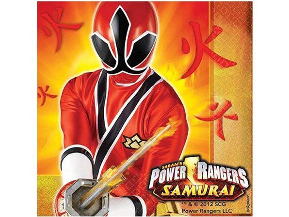 Napkins - Power Rangers Samurai - Large - Paper - 2Ply - 16ct - 13 X 13 in