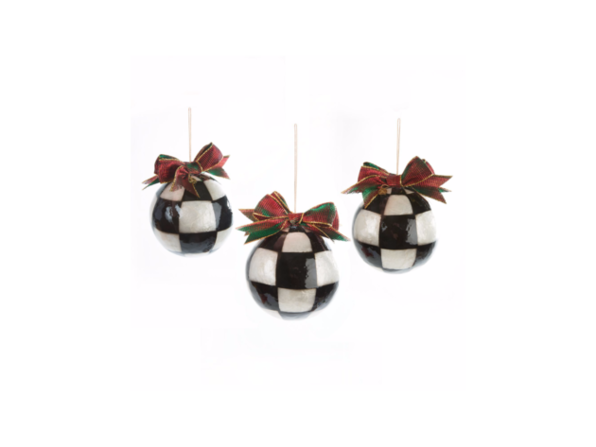 MacKenzie-Childs Jester Fancy Ornaments - Large - Set of 3