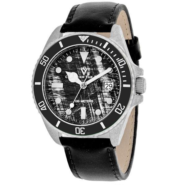 Christian Van Sant Men's Montego Vintage Black Dial Watch - CV5100LB