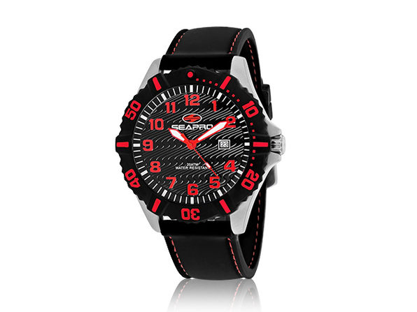 Seapro Men's Trooper Watch Black/Red - Product Image