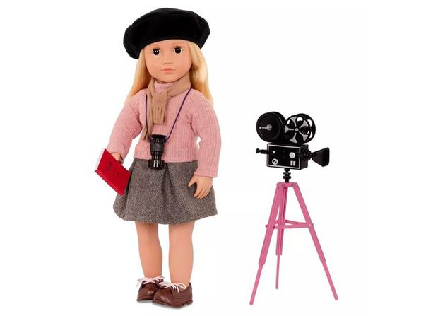 Our Generation 18 Inch Non-Poseable Professional Director Doll Kathleen, Styled Under Her Signature Black Beret