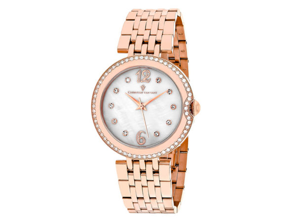 Christian Van Sant Women's Jasmine White MOP Dial Watch - CV1612 - Product Image