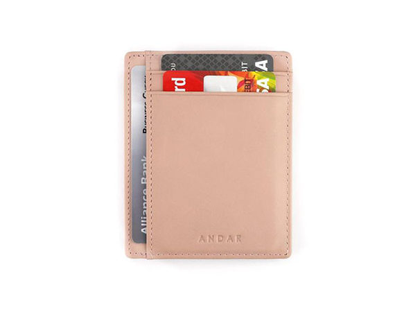 The Scout: Slim Leather Wallet (Blush)