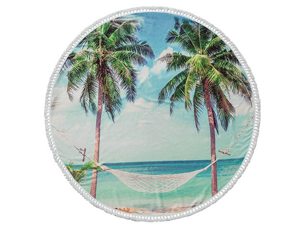Round Cotton Turkish Beach Towel