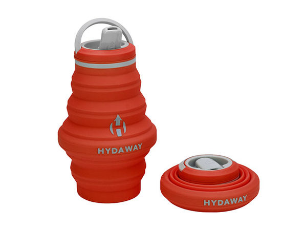 Hydaway 17oz Collapsible Water Bottle with Spout Lid (Sunset Orange)