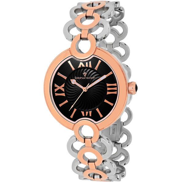 Christian Van Sant Women's Twirl Black Dial Watch - CV2815