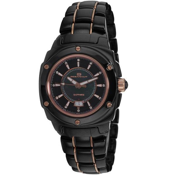 Oceanaut Women's Ceramic Black MOP Dial Watch - OC0412