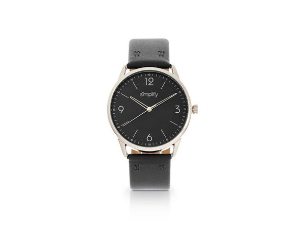 Simplify 6300 Series Leather Band Watch