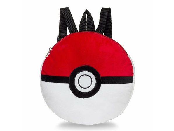 Pokemon 12 Inch Pokeball Plush Backpack