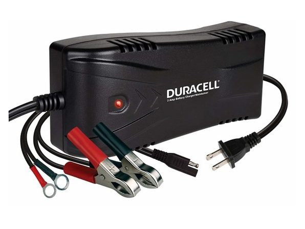 Duracell DRBM2A Black 2 Amp Battery Charger/Maintainer (Like New, No Retail Box)