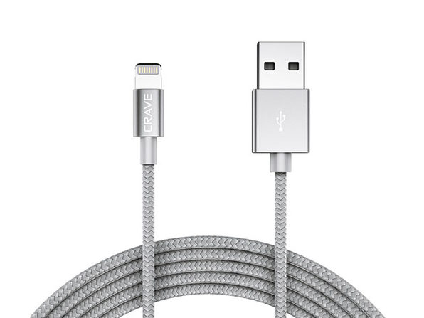 Crave 4Ft Apple MFi to USB Cable (Silver)