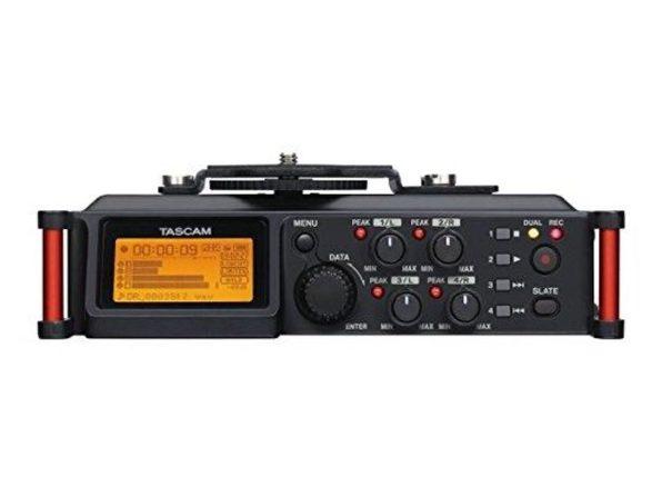 Tascam DR-70D 4-Channel Portable Recorder Mixer XLR Microphone Phantom Power