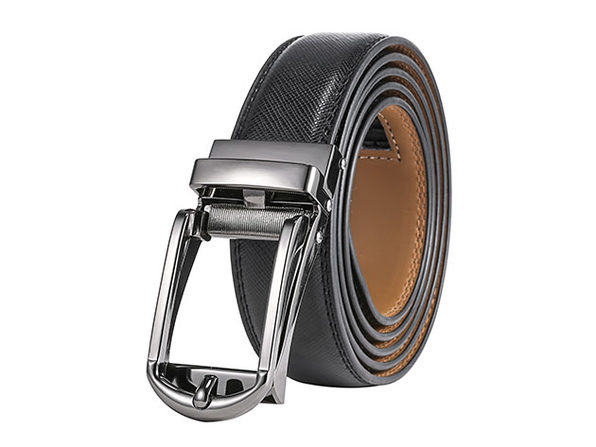 "Rounded Classic LINXX Ratchet Belt – Onyx (38"" to 54"" Waist)"