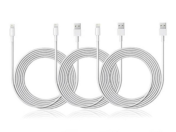10-Ft MFi-Certified Lightning Cable: 3-Pack - Product Image
