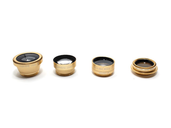 Clip & Snap Smartphone Camera Lenses: 5-Pack (Gold) - Product Image