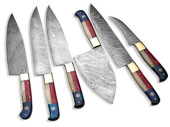 6-Piece Texas Pro Kitchen Knife Set