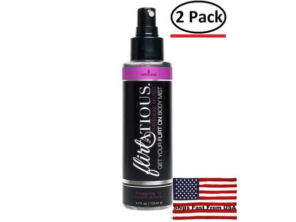 ( 2 Pack ) Flirtatious Pheromone Infused Body Mist - Pomegranate, Fig, & Plumeria - 4.2 fl.oz /125ml - Product Image