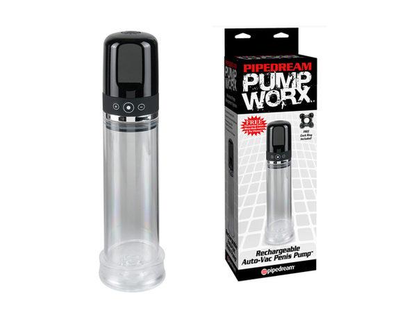 Pump Worx Recharg Auto-Vac Penis Pump ---(Package Of 4)