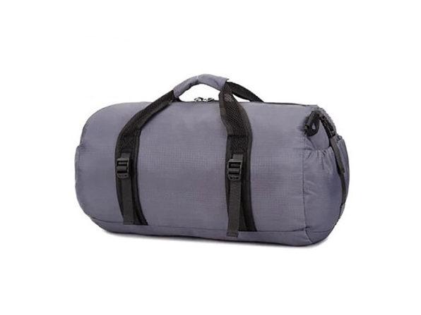 Foldable Travel Duffel Bag (Gray)